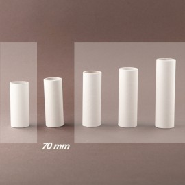 Fourreau - tube de bougie d24 blanc lisse - ht 70 - Falbala-luminaires