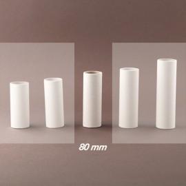 Fourreau - tube de bougie d24 blanc lisse - ht 80 - Falbala-luminaires