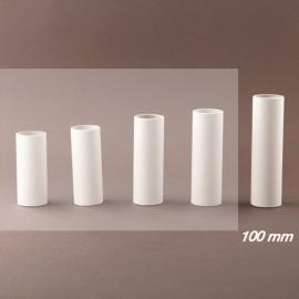 Fourreau - tube de bougie d24 blanc lisse - ht 100 - Falbala-luminaires