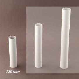 Fourreau - tube de bougie d24 blanc lisse - ht 120 - Falbala-luminaires