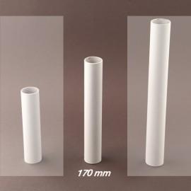 Fourreau - tube de bougie d24 blanc lisse - ht 170 - Falbala-luminaires