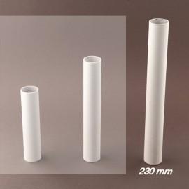 Fourreau - tube de bougie d24 blanc lisse - ht 230 - Falbala-luminaires