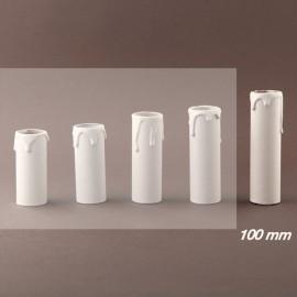 Fourreau de bougie D24 blanc à gouttes Ht 100