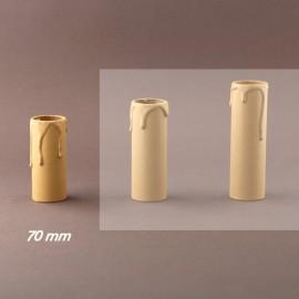 Fourreau - tube de bougie d27 ivoire à gouttes - ht 70 - Falbala-luminaire