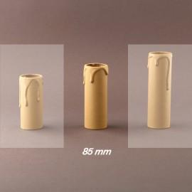 Fourreau - tube de bougie d27 ivoire à gouttes - ht 85 - Falbala-luminaire