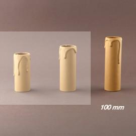 Fourreau - tube de bougie d27 ivoire à gouttes - ht 100 - Falbala-luminaire