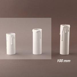 Fourreau - tube de bougie d27 blanc à gouttes - ht 100 - Falbala-luminaire