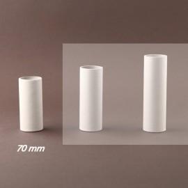 Fourreau - tube de bougie d27 blanc lisse - ht 70 - Falbala-luminaires