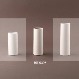 Fourreau - tube de bougie d27 blanc lisse - ht 85 - Falbala-luminaires