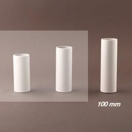 Fourreau - tube de bougie d27 blanc lisse - ht 100 - Falbala-luminaires