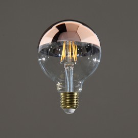 Globe calotte cuivre D95 - E27 - 7.5W - Falbala-luminaires