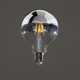 GLOBE LED CALOTTE ARGENTEE D95 E27 5W