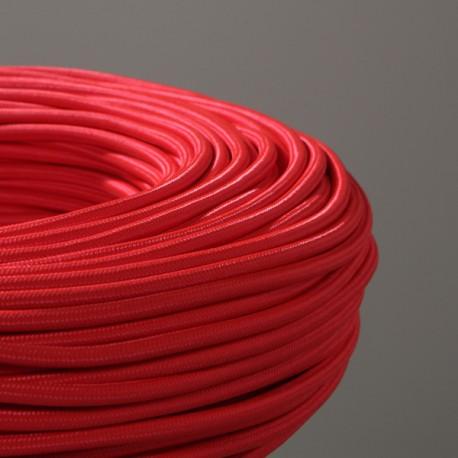 Câble textile rouge 2x0.75mm² - Falbala-luminaires