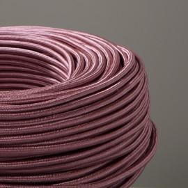 Câble textile rose ancien