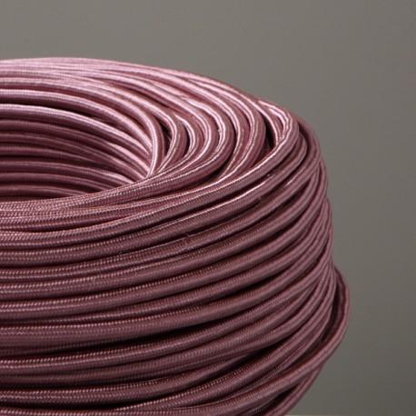 Câble textile rose ancien 2x0.75mm² - Falbala-luminaires