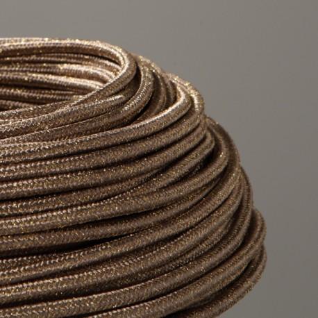 cable textile paillettes vieil or. Black Bedroom Furniture Sets. Home Design Ideas