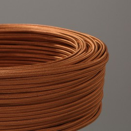 CABLE TEXTILE PLAT 2X0.35mm² BRONZE