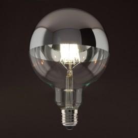 Globe Led calotte argentée D125 E27 6W
