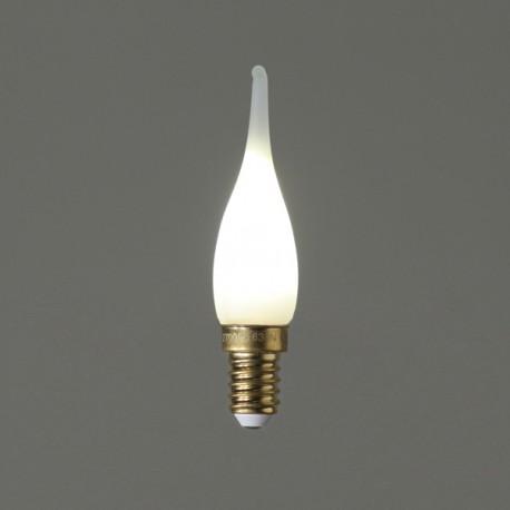 Flamme Grand Siècle led satinée - E14 - 1W - Falbala-luminaires