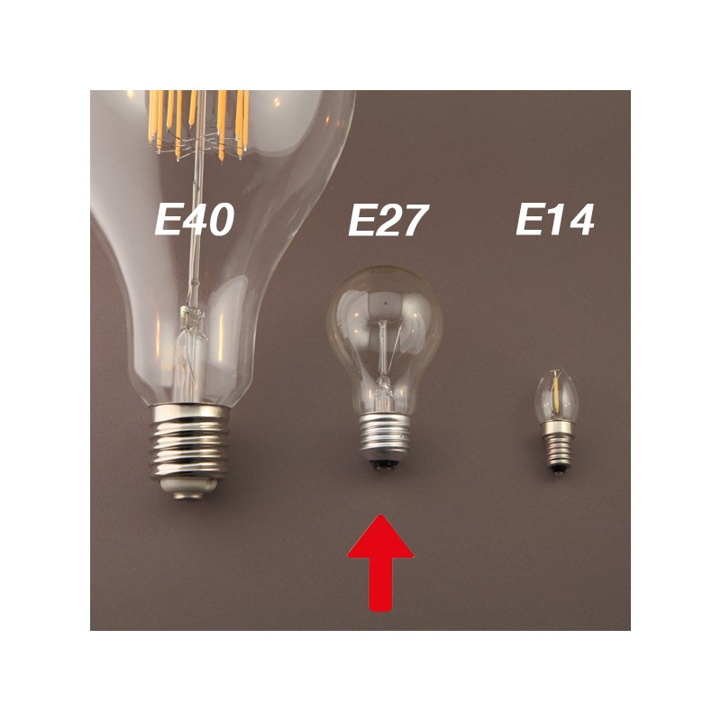 globe xxl e27 40w filament spirale carr e. Black Bedroom Furniture Sets. Home Design Ideas