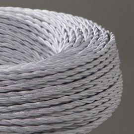 CABLE TEXTILE TORSADE 3X0.75mm² BLANC