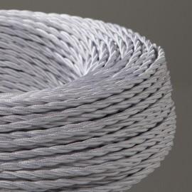 Câble textile torsadé 3x0.75mm² blanc