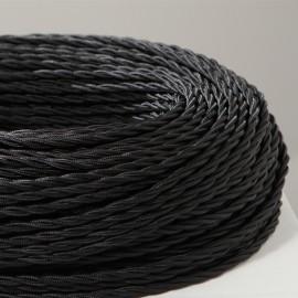 Câble textile torsadé 3x0.50mm² noir
