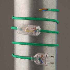 Cordon de lampe textile vert