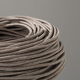 CABLE TEXTILE CHINE MARRON GLACE
