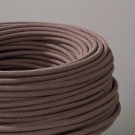 Câble textile coton chataigne 2x0.75mm² - Falbala-luminaires