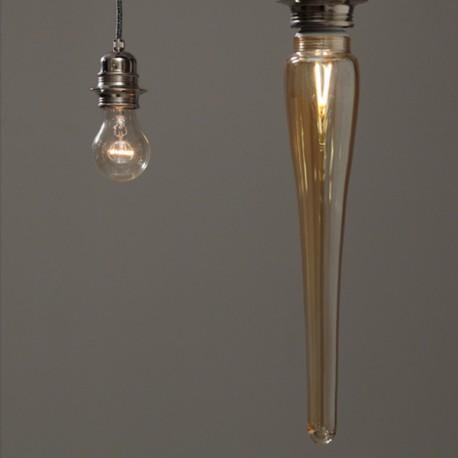 Grande Stalactite ambrée - Falbala-luminaires