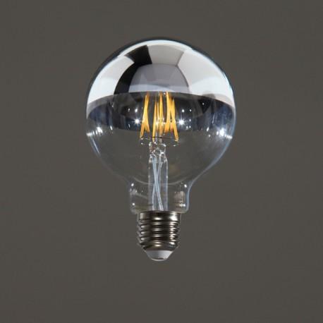 GLOBE LED CALOTTE ARGENTEE 6 W D95 E27