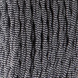 Câble textile torsadé 2x0.75mm² zébré noir et blanc - Falbala-luminaires