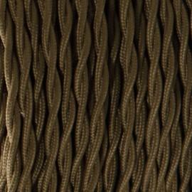 Câble textile torsadé 2x0.75mm² kaki