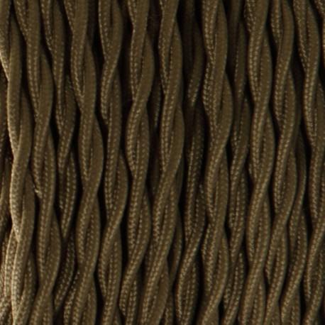 c/âble textile torsad/é 2 fils 2x0.75mm2 Fil /électrique tissu Or
