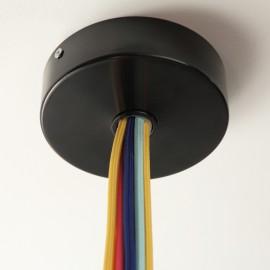 Pavillon plat noir 8 à 12 câbles
