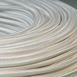 Câble textile blanc 3x0.75mm² - Falbala-luminaires