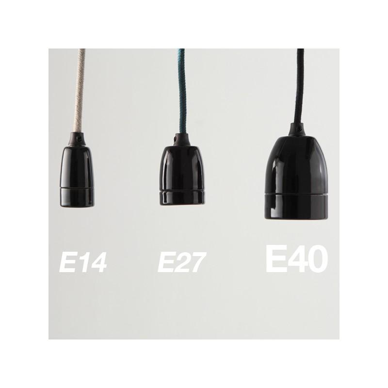 douille-e40-porcelaine-noire