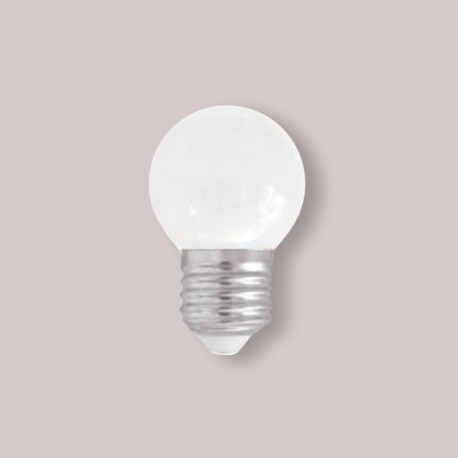 SPHERIQUE LED OPALE E27 0,9W BLANC CHAUD