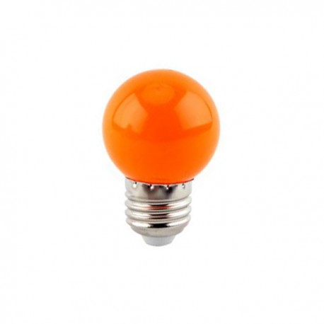 SPHERIQUE LED OPALE E27 0,9W ORANGE