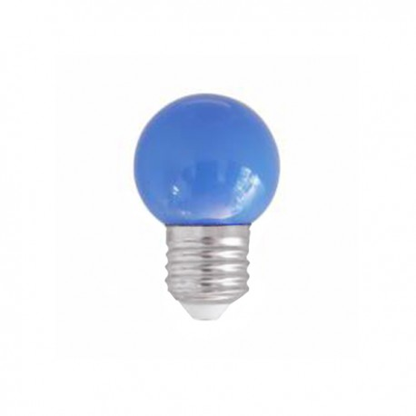 SPHERIQUE LED OPALE E27 0,9W BLEU