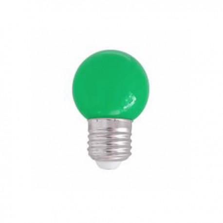 SPHERIQUE LED OPALE E27 0,9W VERT