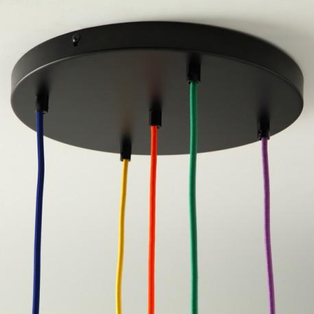 Pavillon grand format 5 trous noir - Falbala-luminaires