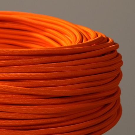 Câble textile orange 3x0.75mm² - Falbala-luminaires