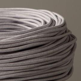 Câble textile chiné béton