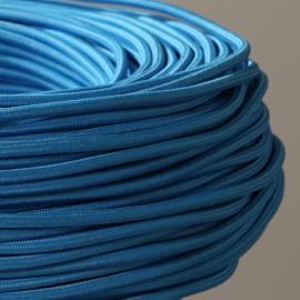 Câble textile bleu turquoise