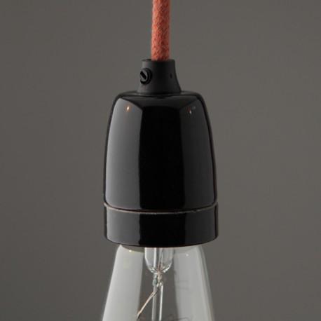 Douille E27 porcelaine super lisse noire - Falbala luminaires