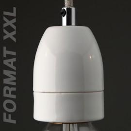 Douille E40 porcelaine blanche