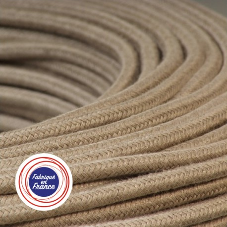 Câble textile Lin 3x0.75mm² - Falbala-luminaires