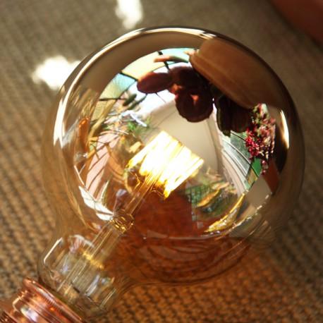 Globe calotte Or D125 - E27 - 6W - Falbala-luminaires